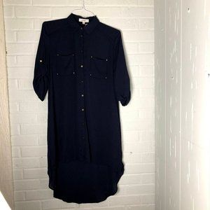 Umgee Black Sheer Long Roll Up Sleeve size L